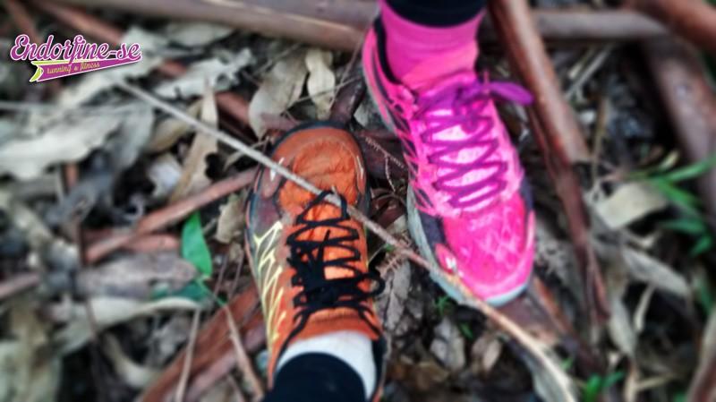 Eu e a Bianca usamos os Skechers GOBionic Trail na Trilha do Trator