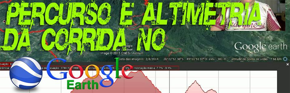 Percurso e Altimetria de Corrida no Google Earth